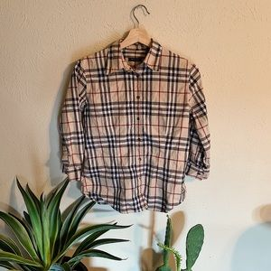 Burberry London 3 Quarter Sleeve Button Down